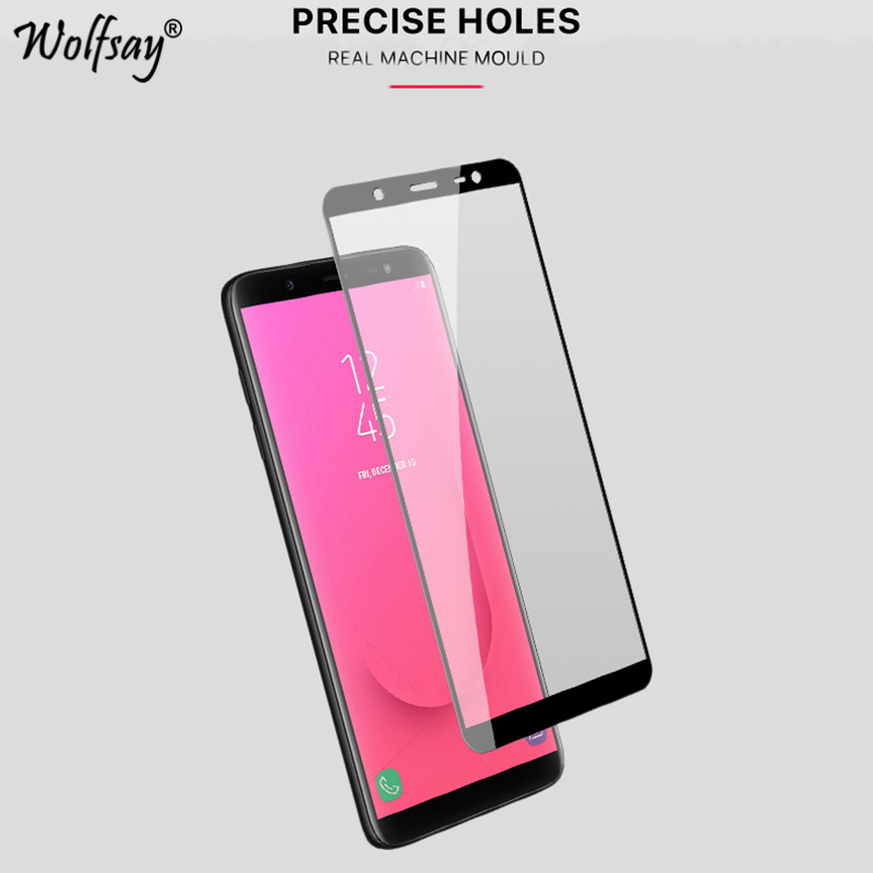 GzPuluz Glass Protector Film 50 PCS 0.26mm 9H 2.5D Tempered Glass Film for Galaxy J4+ No Retail Package