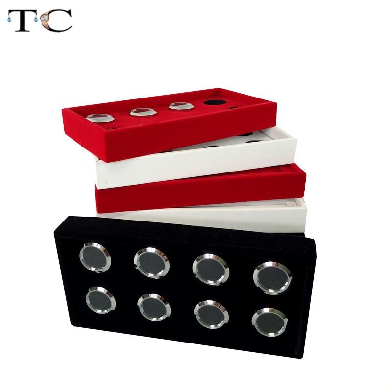 Removable 8 Slot Diamond Accessories diamond Boxes Jewelry Cases Storage Organizer Tray 11*22 CM