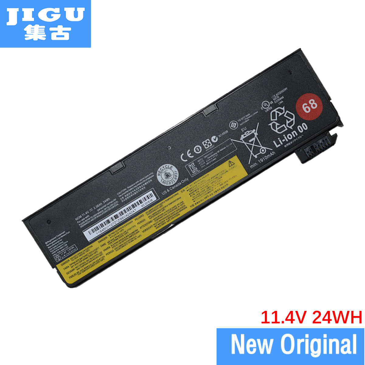 JIGU 11.4V 24WH 121500144 45N1108 45N1109 45N1110 45N1111 Original Laptop Battery For Lenovo K2450 S440 T440 T440S T450s X240 6 cell original laptop battery for t440s t440 x240 touch 45n1128 45n1129 10 8v 48wh