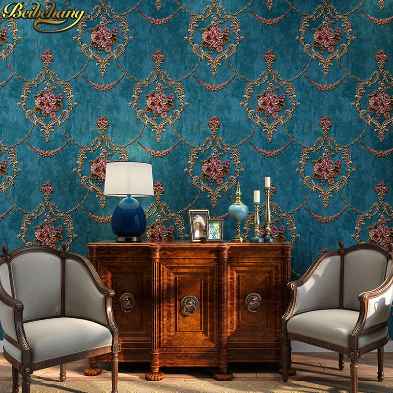 beibehang background wallpaper non woven gliter damask wall paper for living room bedroom papel de parede