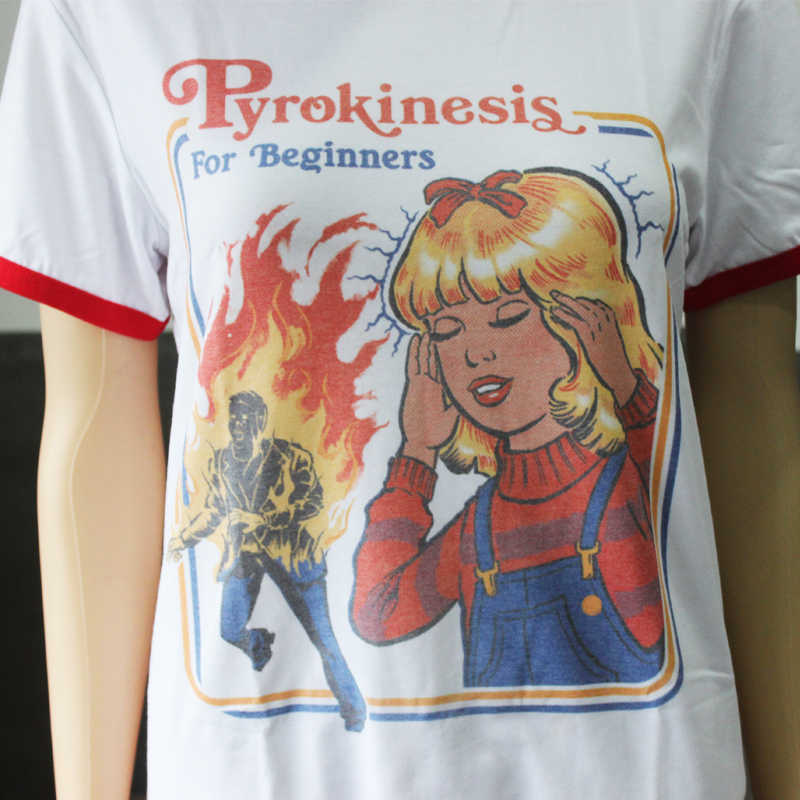 58e073c375b Hillbilly Cute Graphic Tee Pyrokinesis for Beginners Street Wear Fashion  Summer Outfits Women Retro Ringer 80s 90s Tees T-Shirts