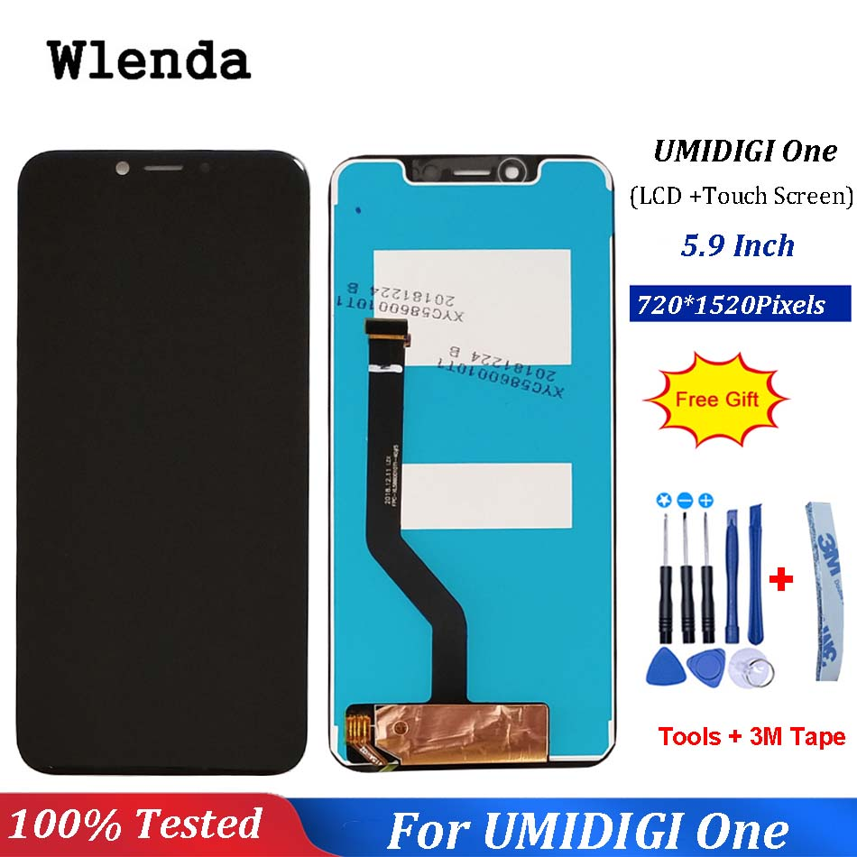 5.9 polegada UMIDIGI ONE PRO Display LCD + de Tela de Toque Original de 100% Testado LCD Digitador de Vidro Substituição Do Painel Para UMIDIGI um