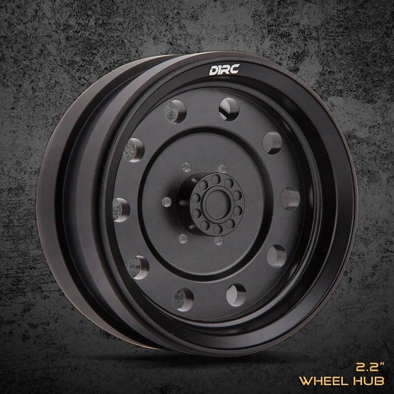 4PCS CNC Machining Alloy Metal 2 2inch Wheel Hub For 1 10 Rc Rock Crawler Traxxas