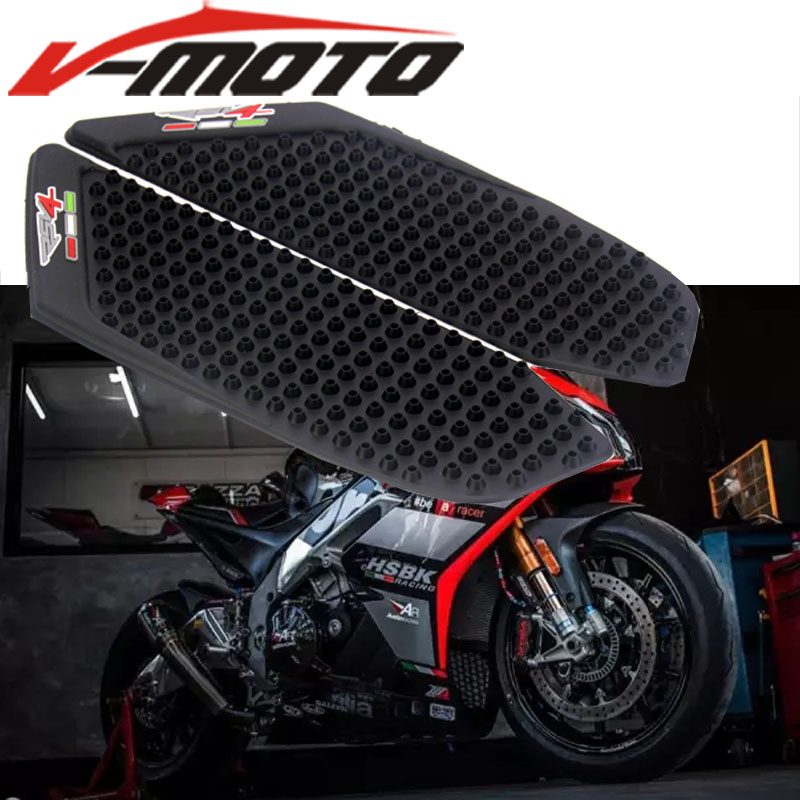 Lovely Motorcycle Gas Tank Side Fuel Grip Pad With Fishbone Decal For Kawasaki Z900 17-18 Protector Gas Fuel Knee Grip Traction Side Motorcycle Accessories & Parts