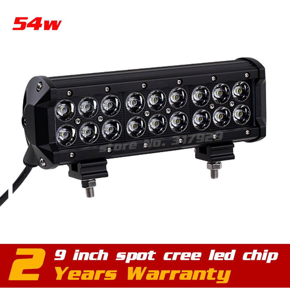 9inch 54w LED Work Light 10-30v IP67 adjustable bracket SUV Truck ATV Fog Light Offroad LED Light Bar Seckill 27w 36w