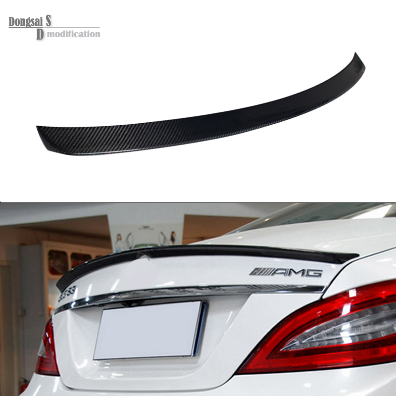 Mercedes CLS class w218 2012 + carbon fiber rear trunk lid spoiler for benz cls w218 2012+ CLS280 CLS300 CLS 350 CLS500 yandex mercedes x156 bumper canards carbon fiber splitter lip for benz gla class x156 with amg package 2015 present
