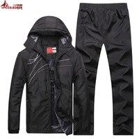 UNCO&BOROR winter jacket men Fashion thicken fleece warm Hoodies Tracksuits men set parka jacket coat sportsuit size L~4XL 5XL