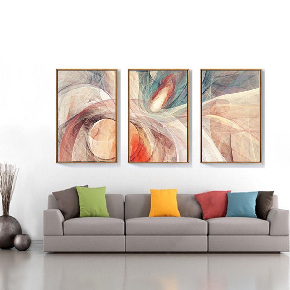 1 55 10 De Réduction Abstrait Dynamique Lignes Toile Peinture Moderne Mode Affiches Imprime Grand Mur Art Photos Pour Salon Décor à La Maison Sans