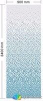 Керамика мозаика для украшения дома облицовки стен синий цвет постепенное изменения узор 900xH2400mm qch63