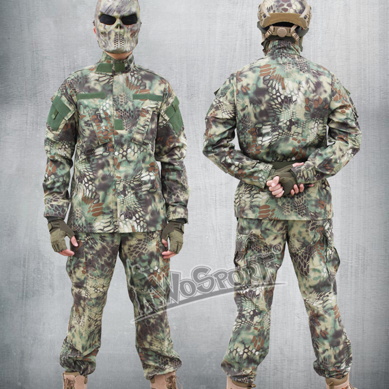 ACU Military Camouflage Clothing Hunting Ghillie Suits Army Combat Tactical Airsoft Hunting Ghillie Suit Trainning Exercise Sets double fleece camo suits fabric jungle camouflage hunting clothing sets for hunter clothes