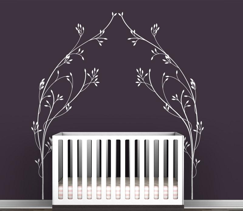 vineyard canopy cama cabecera tatuajes de pared moderno nios habitacin del beb vivero decoracin de la