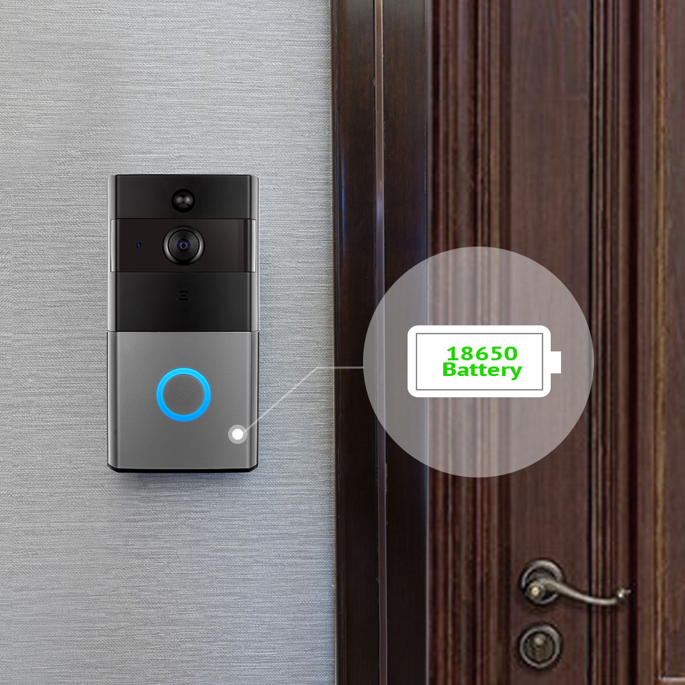 Smart WiFi Wireless Doorbell Camera Ring Visual Intercom Video Doorbell Phone Remote Home Security Monitoring Night