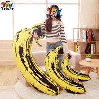 Triver Toy Plush Banana Long Pillow Stuffed Bolster Cushion Gift For Baby Children Kids Girlfriend Boy