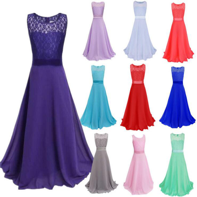 Girls Wedding Dress 2017 Summer Casual Lace cotton Baby Girl Princess Dresses Sleeveless Voile Clothes Kids party vestidos baby girls summer cotton princess top quality kids sleeveless dress children wedding party clothes girl christmas prom dress