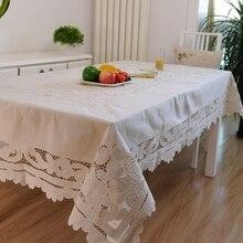HETAIYIYUAN Europäischen leinen tischdecke esstisch abdeckung mode hand bestickt tischdecken tischdecke couchtisch tuch