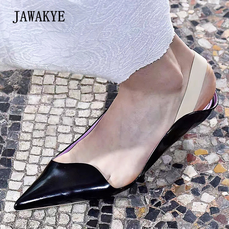 2018 Newest Red Black White Little Heel Shoes Woman Sexy Pointed Toe Patent Leather Fashion Ruffles Design Gladiator Sandals cocoafoal woamn patent leather sandals fashion heel height black white wedding shoes sexy genuine leather pointed toe sandals