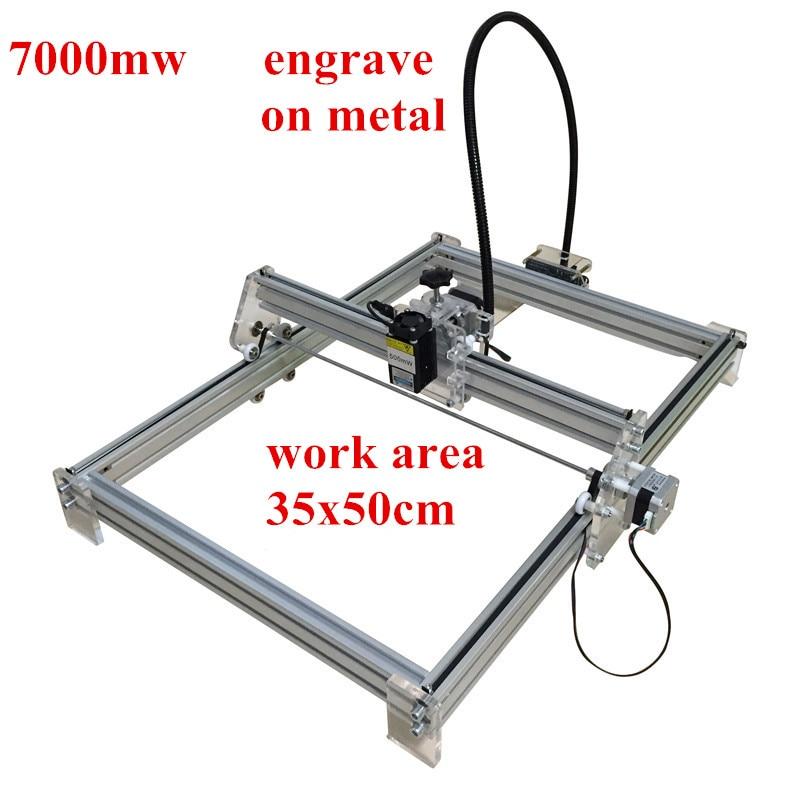 2016 New 7000MW  DIY laser engraving machine engrave on metal for toy  laser cutting machine  working area 35*50cm футболка toy machine leopard brown