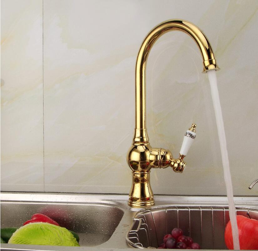 Fashion Brass Rose Gold Kitchen Faucet Hot And Cold Single Lever - Rose gold kitchen faucet