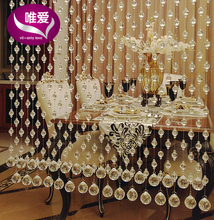 24 meter/lot Sitting room porch partition crystal bead curtain shade curtain household toilet bead curtain customization