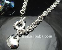 оптовой посеребренные в форме сердца тег обхватить ожерелье бесплатная доставка penoyjewelry i219