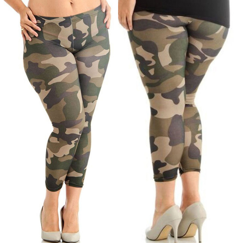 bd551ac8421c85 USPS Women Girl's Gym Camouflage Yoga leggings Plus Size Elastic Leggings  Trousers Camouflage Prints Tight Mesh Yoga Sport Pants
