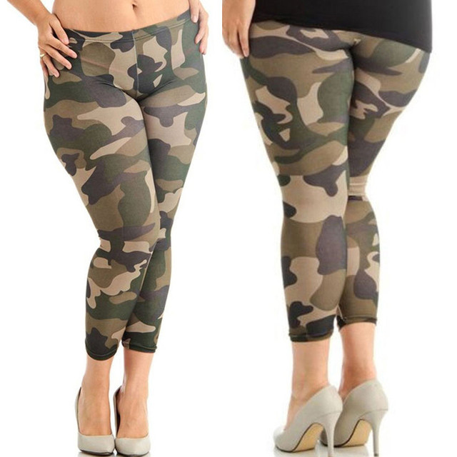 89344535c7f68 USPS Women Girl's Gym Camouflage Yoga leggings Plus Size Elastic Leggings  Trousers Camouflage Prints Tight Mesh Yoga Sport Pants