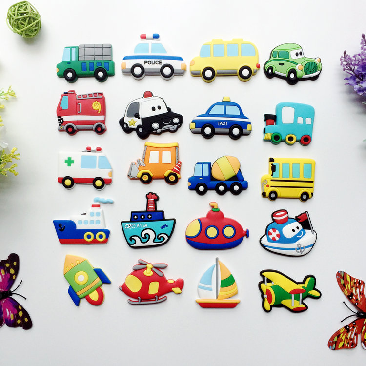 20PCS Wholesale Car Aircraft Magnets Magnetic Sticker European Refrigerator Magnets Home Decoration Teaching Supplies Best Gifts