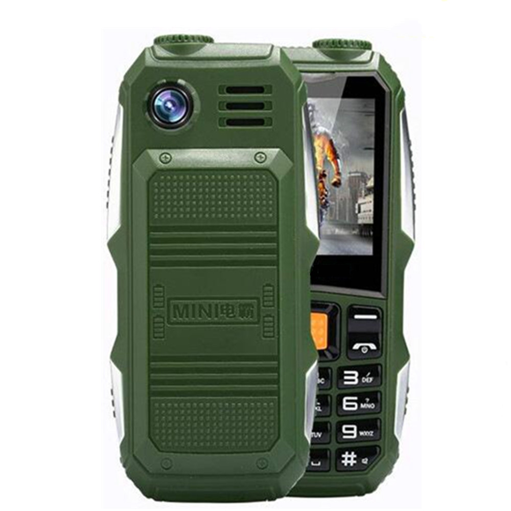 Большой аккумулятор 3800 мАч, телефон с двумя Sim-картами, GSM, пыленепроницаемый, ударопрочный сотовый телефон, большой динамик-фонарик, мобильн...