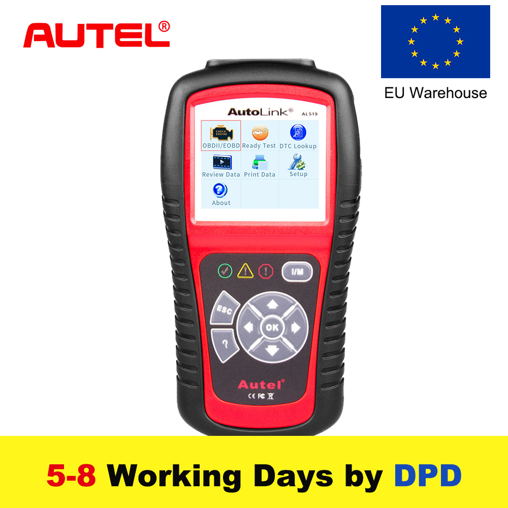 Autel Автоссылка AL519 OBD2 сканер автомобиль DTC читателя сканирования AL-519 OBDII Авто диагностический инструмент код читателя OBD 2 II сканер PK MS509