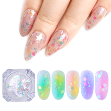 2g Colorful Nail Flakies Heart Star Butterfly Round Art Glitter Sequins Paillette Decoration Pigment