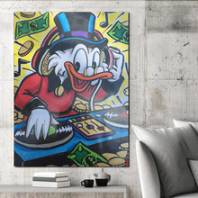 Monopolies Scrooge Duck DJ HD Wall Art Canvas Posters Prints Painting Pictures For Office Bedroom Modern Home Decor Artwork