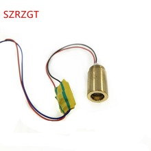 Módulo de diodo de punto láser ajustable, cabezal de cobre verde, 532nm, 12mm, 3V 3,7 V, 20mW