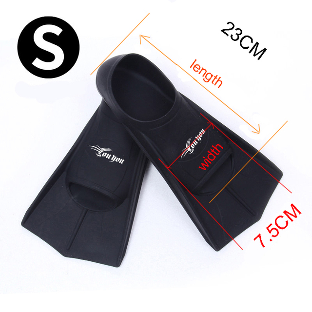 Portable Short Swimming Flippers