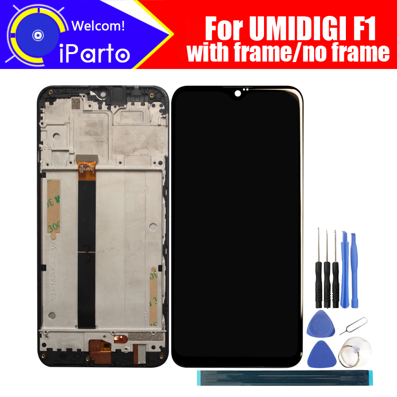 6 3 inch UMIDIGI F1 LCD Display Touch Screen Digitizer Frame Assembly 100 Original LCD Touch