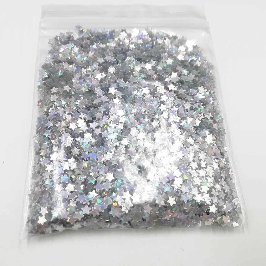 10 g/saco Ouro Prata Glitter Holográfico 3 milímetros Micro Star/Borboleta MIX Forma Acrílico Laser de Brilho Para A Arte Do Prego decorações YXL035
