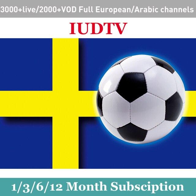 Extra Code for order IUDTV IPTV Swedish France European Arabic Africa Spanish Italy UK Germany m3u Smart Android tv box Enigma2