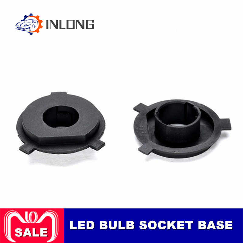 Inlong 2Pcs H4 LED Headlight Adapter Holder Base For LED H7 H1 H11 H8 H9 H13 9004 9005 9006 9007 880 Headlamp  Sockets LED Bulbs