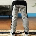 Новый 2-7Y одежды малыша мальчик мягкий теплый джинсы свободного покроя джинсы тонкие брюки