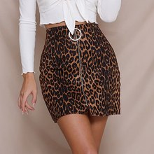 159d0de861 Fashion Sexy Leopard Print Brown Bodycon High Waist Short Pencil Skirt Mini  Zipper Skirts Womens Clothes Casual Slim Streetwear