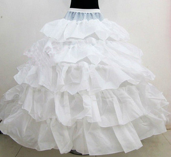 Cheapest Free Shipping High Quality Tulle 4 Hoop Wedding Bridal Petticoat Underskirt Crinolines for Wedding Dresses A023