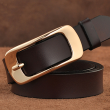 Womens' Genuine Leather Pin Buckle Belt