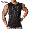 Men Stringer Tank Top Gasp Brand Mens Bodybuilding Fitness Male Singlets T Shirts Clothes Muscle Vest Sleeveless Tank