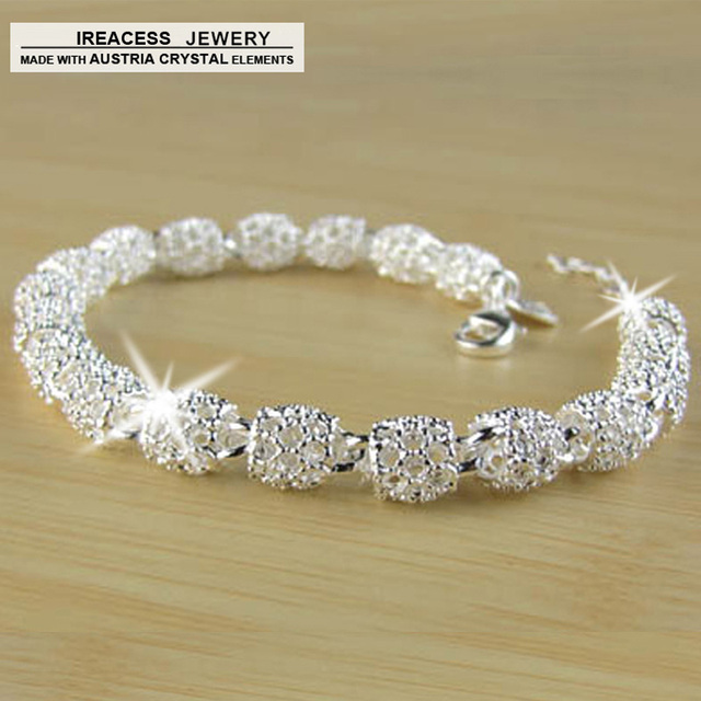Ireacess new fashion charm bracelets for women luxury womens 925 ireacess new fashion charm bracelets for women luxury womens 925 sterling silver wedding bracelets bangles junglespirit Gallery