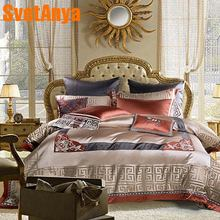 Juego de cama con brocado de lujo de seletanya, cama king queen de doble tamaño