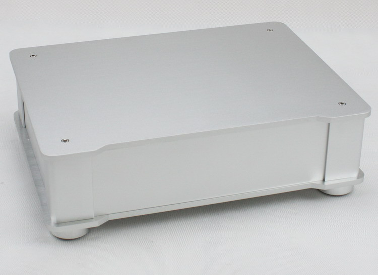 WF1187 Full Aluminum Audio Amplifier Chassis/ Preamp Enclosure/ Tube Amp Box/ DAC Case 326*82*245mm With Aluminum Machine Feet 4308 rounded chassis full aluminum enclosure power amplifier box preamplifier chassis