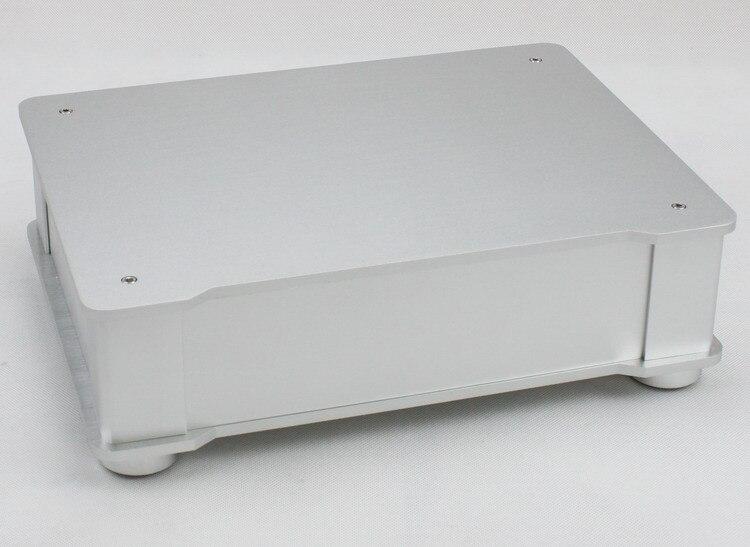 WF1187 plein châssis d'amplificateur Audio en aluminium/boîtier de préampli/boîte d'ampli de Tube/boîtier de DAC 326*82*245mm avec les pieds en aluminium de Machine