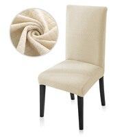 Żakardowe grube rozciągliwe pokrowce na krzesła ze spandeksu do jadalni salon kuchnia restauracja dekoracje ślubne pokrowce na krzesła solidne w Pokrowiec na krzesło od Dom i ogród na