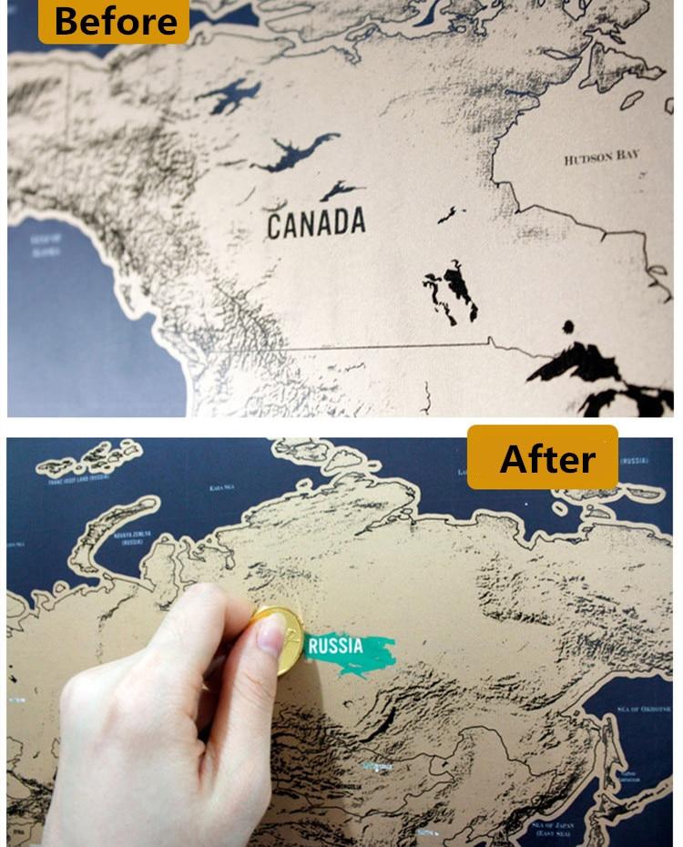 Vintage Deluxe Scratch Map Mappa Del Mondo Poster Wall Sticker Carta Da  Parati della decorazione della Casa a9236d28dbbb