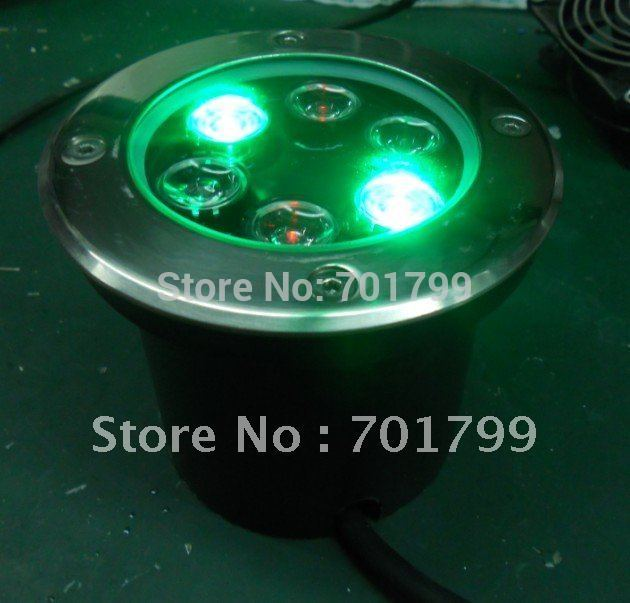 6*1w RGB LED underground light,D120*H105mm;DC12-24V input,can be controlled by common rgb controller or dmx decoder