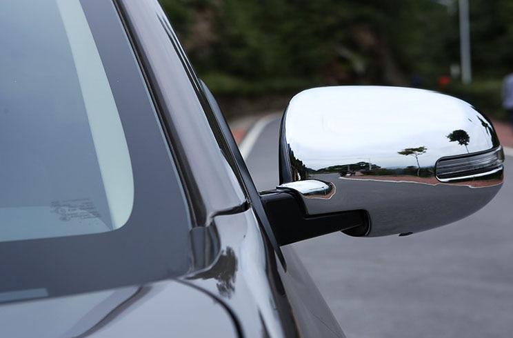 2PC ABS For Mitsubishi Outlander 2013-2016 Backing mirror cover Rearview mirror hood sticker дефлектор капота novline с подгибом темный mitsubishi outlander 2013 nld smiout1212 2